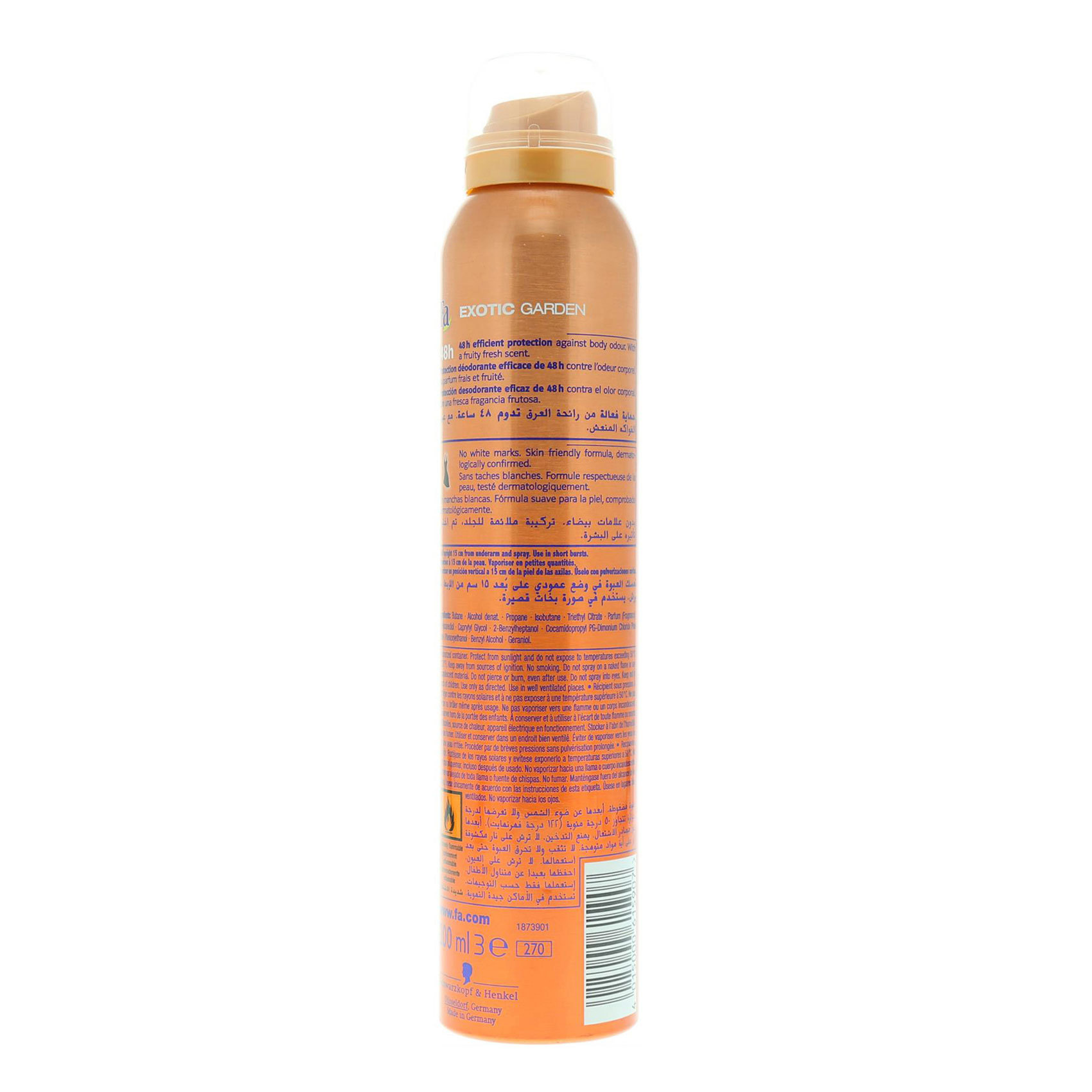 FA DEO SPRAY EXOTIC FRUITS 200ML