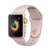 Apple Watch Series 3 38 MM Gold Aluminum Case Pink Sand Sports Band