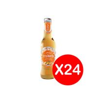 فروتريا عصير فوار خوخ - 300 مل عبوة من 24