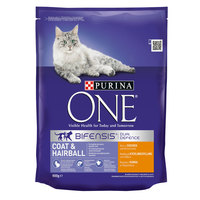 PURiNA ONE COAT & HAIRBALL Cat Chicken& Whole Grains 800g