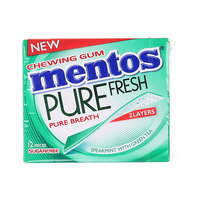 Mentos Chewing Gum Pure Fresh Spearmint with Green Tea 33.6g