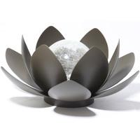 Hk Solar Powered Water lily Lantern