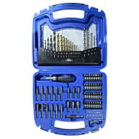 Ford 74Pcs Drills & Bits Assort Kit