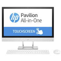 """HP All In One PC 24-r001ne i5-7400 8GB RAM 2TB Hard Disk 2GB Graphic Card 23.8"""" White"""