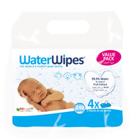 Water Wipes Baby Wipes Value Pack 4 Pack of 60 Wipes