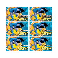Marvel Invitation Card Batman Superhero 6 Pieces