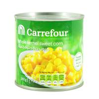 Carrefour whole kernel sweet corn 340 g