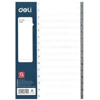 Deli Pp Index Dividers A4 1-15