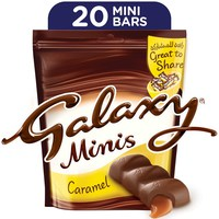 Galaxy® Minis Caramel Chocolate Mini Bars Pouch 280 g (20 Pieces)