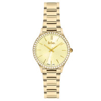 Lee Cooper Women's Analog Gold Case Gold Super Metal Strap Gold Dial -LC06303.110
