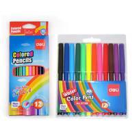 Deli 12 Col Pencil+ 12 Col Felt Pen
