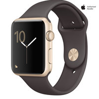 Apple Watch Series-1 42mm Gold Aluminium Case With Cocoa Sport Band