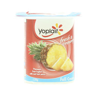 Yoplait Full Cream Pineapple Fruit Yoghurt 120g