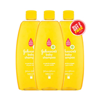 Johnson's Baby Shampoo Gold 500ML 2+1 Free