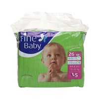 Fine Baby Diapers Maxi Green 10-22KG 26 Sheets