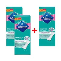 Nana Ladies Pads Pantyliner Long 28 Napkins 2+1 Free