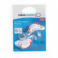 Bebeconfort Natural Physio Silicone Soothers Rebel Rules Little Miss (0 - 6 M) x2