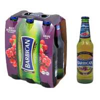 باربيكان شراب شعير بنكهة العنب زجاج 330 مل 6 حبات