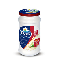 Puck Processed Cream Cheese Spread Low Salt Jar 240g
