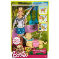 Barbie Spring Feature Pet Walk And Potty Pup