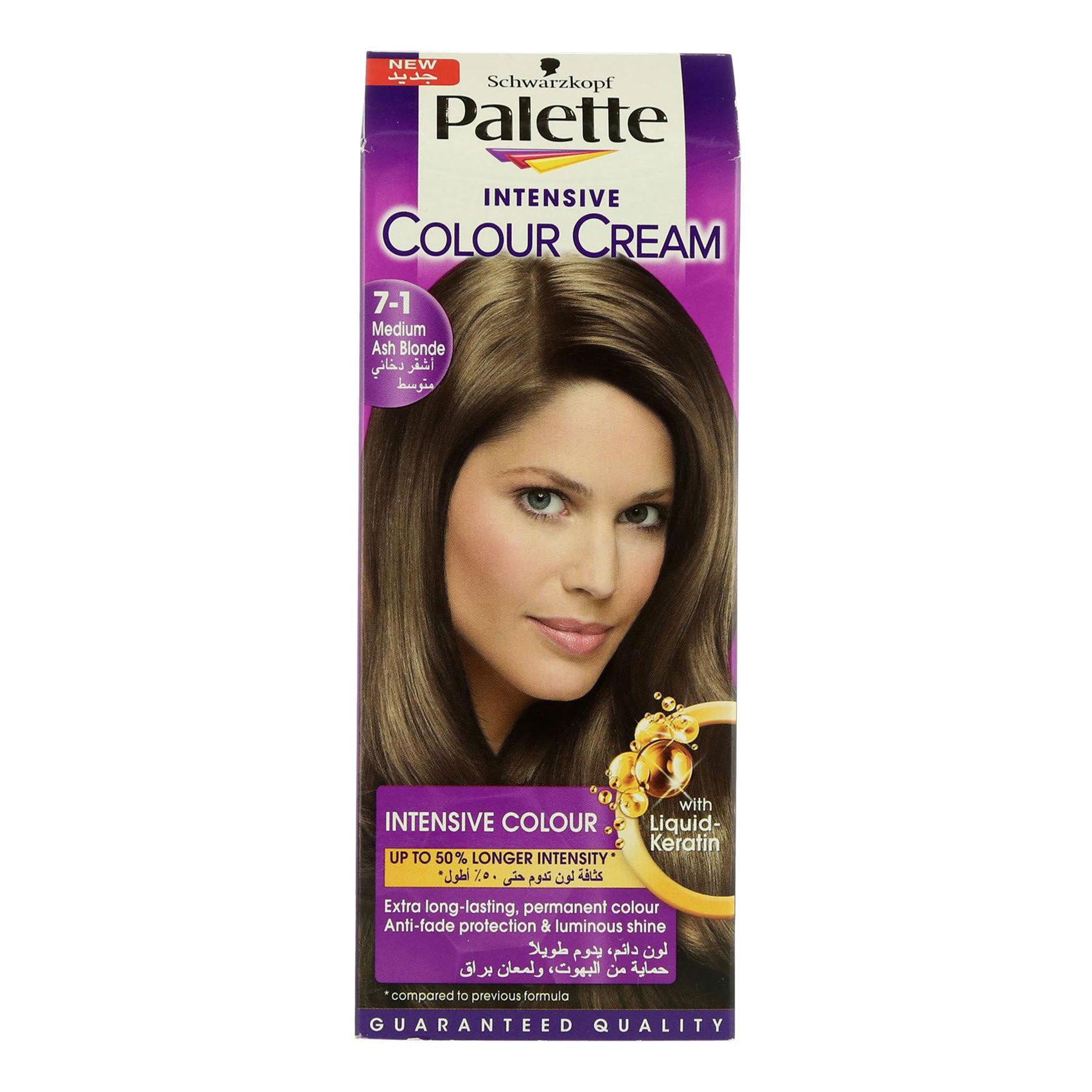 Buy Schwarzkopf Palette 7 1 Medium Ash Blonde Intensive Colour Cream