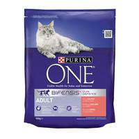 PURINA ONE Adult Cat Salmon and Whole Grains 800g