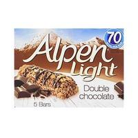 Alpen Cereal Bar Double Chocolate 19GR X 5