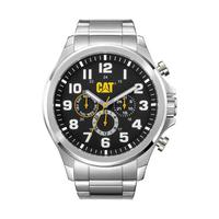 CAT Men's Watch Operator Multi Analog Black Dial Silver Metal Band 48mm  Case