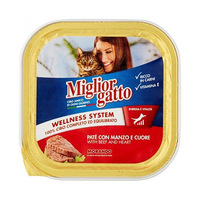 Miglior Gatto Cat Food With Beef & Heart 100GR