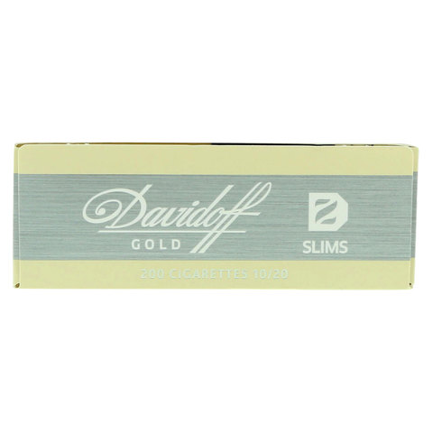 Davidoff-Gold-Slims-200/20-Cigarettes(Forbidden-Under-18-Years-Old)