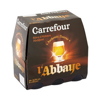 Biere d'Abbaye Carrefour Beer 6.2% Alcohol 25CL X6