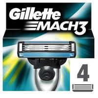 Gillette Mach3 Men's Razor Blade Refills 4 Pieces