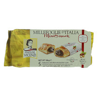 Matilde Vicenzi Puff Pastry Rolls Filled with Hazelnut Cream Mini Snack 125g