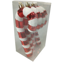 Christmas Candy Cane Decoration 4Pcs/13Cm Red/White