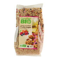 Carrefour Bio Organic Muesli Crunchy Red Fruits 500g