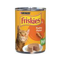 Purina Friskies Wet Can Pate Poultry Platter Cat Food 369 g