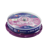 Verbatim DVD+R Double Layer Print 8.5GB Pack Of 10