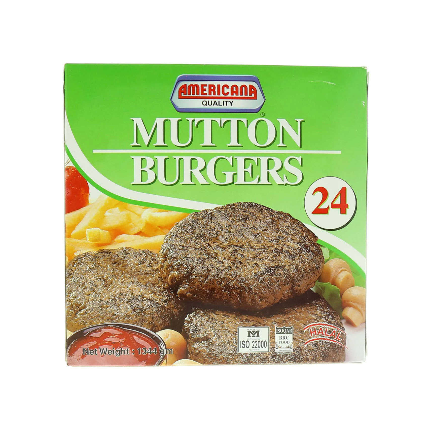 AMERICANA BURGER MUTTON 1.344KG