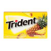 Trident Sugar Free Gum With Xylitol Pineapple Twist Artificially Flavor 14 Sticks