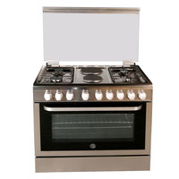 Hoover 90X60 Cm 2 Hot Plate FGC9042-3DE 4Burners Electric Oven