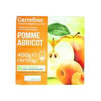 Carrefour Dessert Mashed Apple And Apricot 100 Gram 4 Pieces