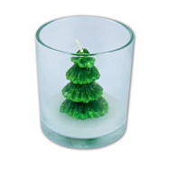 Christmas Tree Candle In Jar 7x8cm
