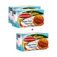 Britannia Digestive Sugar Free 200GR 2+1 Free
