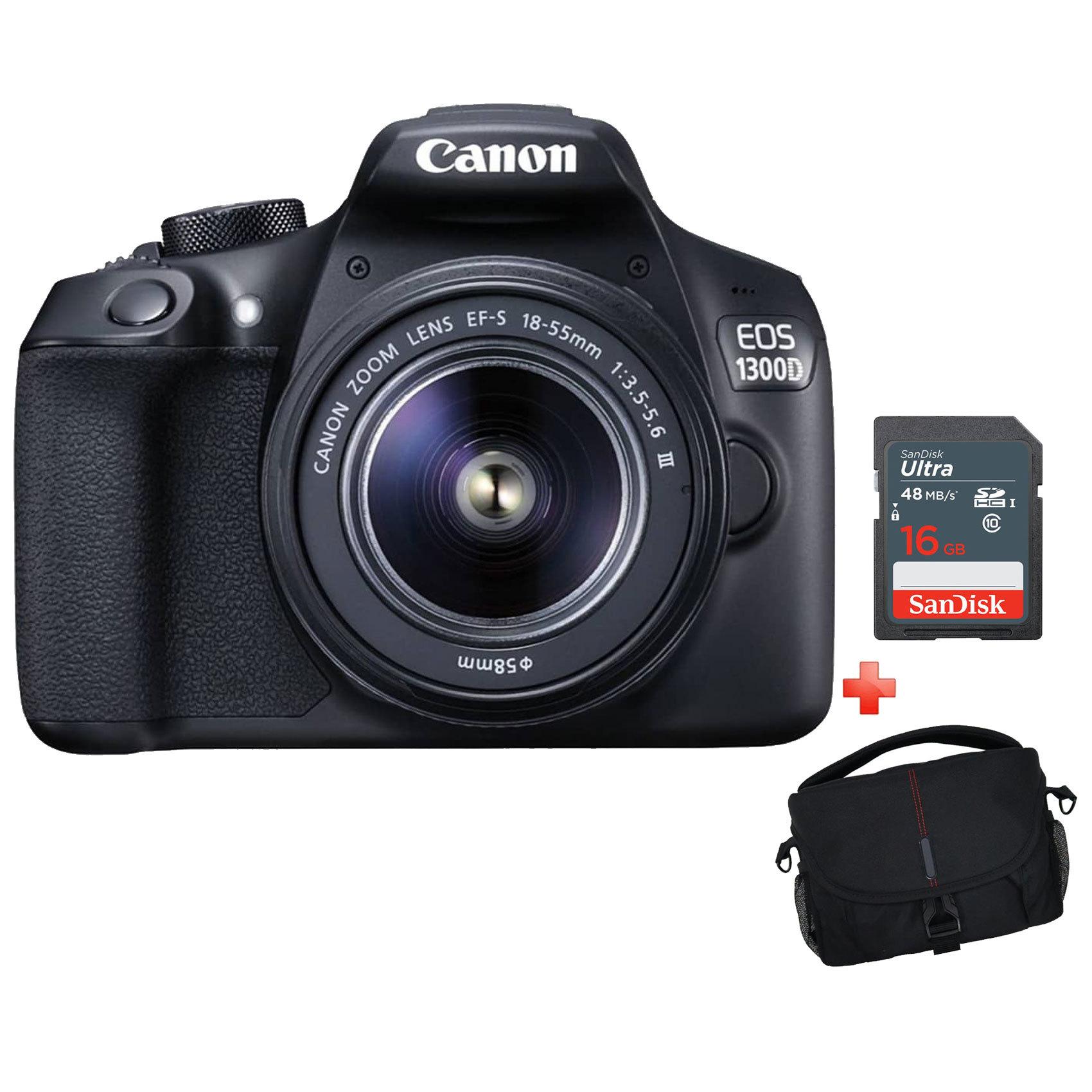 CANON SLR EOS1300D 18-55DC+16GB+CS
