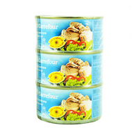 Carrefour Light Meat Tuna Chunks in Sunflower Oil 185GR X3