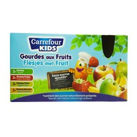 Carrefour Kids Apple Fruits Sauce Mix Gourde 90g x12