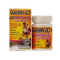 Vitabiotics Wellkid Omega Softbust Capsules 60 Pieces