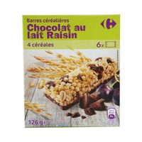 Carrefour Cereal Bar Choco And Grape 125 Gram
