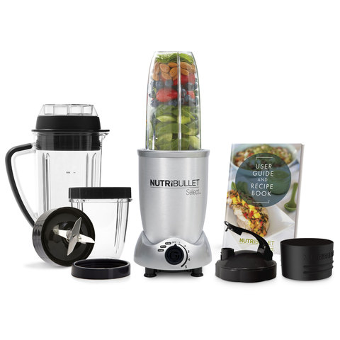 NutriBullet Select Smoothie Maker 10pc Set, Silver, 1000W, N9C-0912