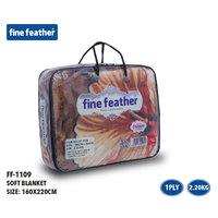 Fine Feather Soft Blanket 160X220 Dark Brown 1 ply 2.2 Kg